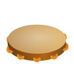 Music instrument tambourine vector