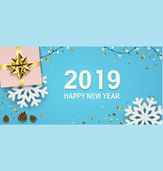new year banner with sparkling garlands vector image
