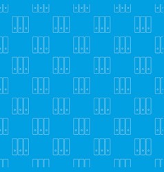 office folder pattern seamless blue vector image