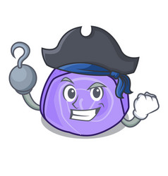 Pirate blueberry roll cake character cartoon vector