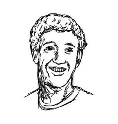 Portrait smiling caucasian man vector
