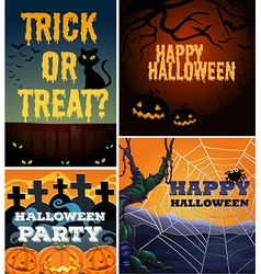 Poster design with halloween theme vector image