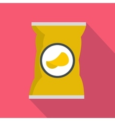 Potato chips bag icon flat style vector