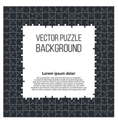 puzzle frame background with jigsaw pieces vector image