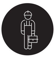 repair man black concept icon repair man vector image