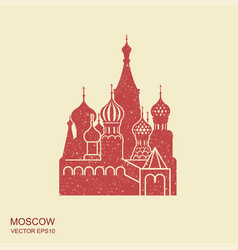 saint basil cathedral moscow flat icon vector image