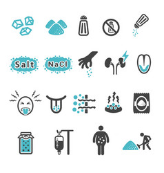 Salt icon vector