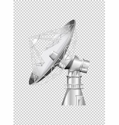 satellite dish on transparent background vector image