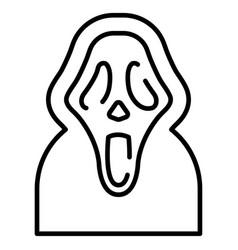 Scream line vector