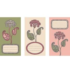 set floral card templates vector image