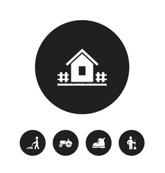 set of 5 editable agriculture icons includes vector image