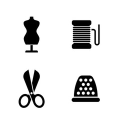 Sewing clothes equipment simple related vector