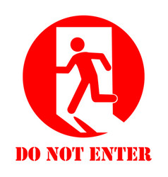sign do not enter vector image