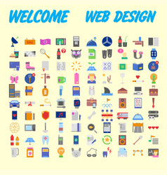 Simple set of online shopping icons design vector