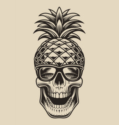 skull pineapple vector image