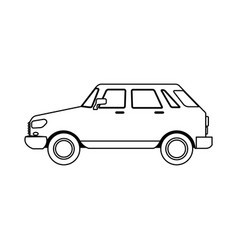 Small car sideview icon image vector