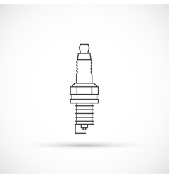 Spark plug outline icon vector