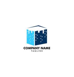 square city logo icon vector image