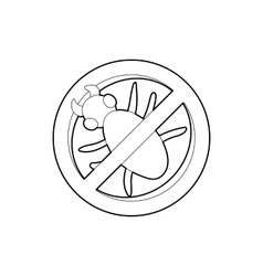 Stop computer virus sign icon outline style vector