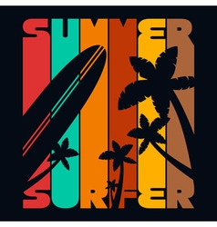 Summer Surfer T-shirt Typography Graphics vector image