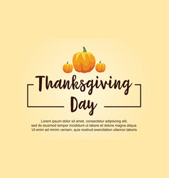 thanksgiving day style card collection vector image