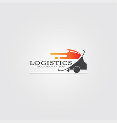 trucking transportation logo logo for business vector image