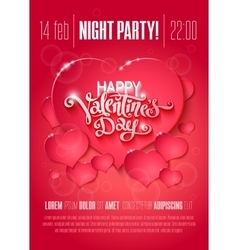 Valentine Day flyer vector image