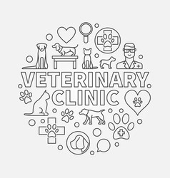 Veterinary clinic round vector