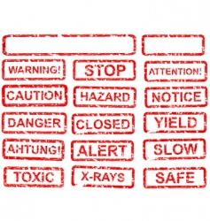 warning sign set vector image