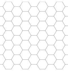 White hexagon seamless background vector