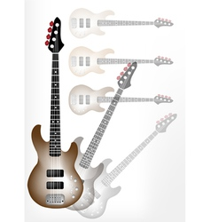 Beautiful Brown Electric Guitar with Guitar Shadow vector image vector image