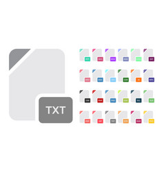 flat file format icons audio video image vector image vector image
