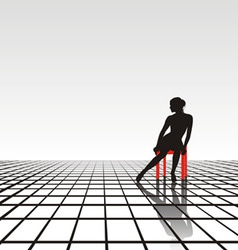lonely girl vector image vector image