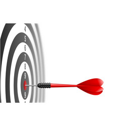 red dart arrow hitting in the target center vector image vector image
