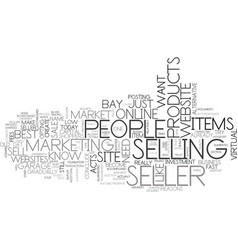 why e bay is a seller s bliss text word cloud vector image