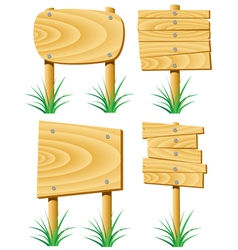 wooden elements vector image vector image
