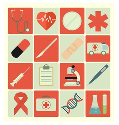 flat icons medical vector image vector image