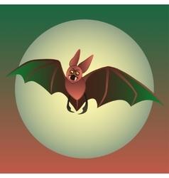 funny bat on black background vector image