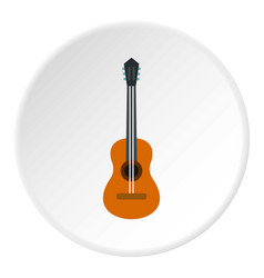 guitar icon circle vector image