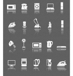Home appliances and electronics web icons set vector image