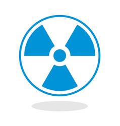 icon of a radioactive symbol vector image vector image