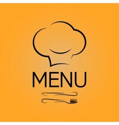 Menu chef design background vector