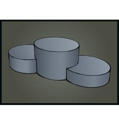 Sport podium stylized vector image vector image