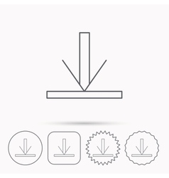 Download icon Down arrow sign vector image