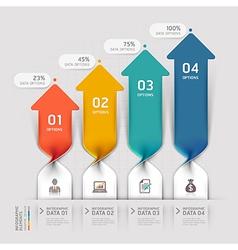 Modern arrow business spiral infographics vector