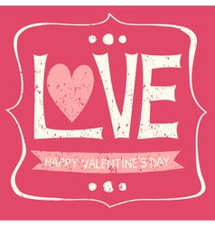 Typographic vintage design greeting card vector image vector image