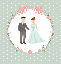 wedding couple bride and groom wedding couple vector image vector image