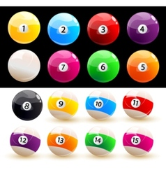 Billiard balls set vector