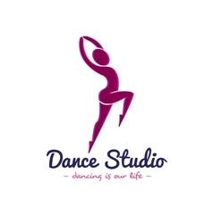 dance studio logo Dancer logotype vector image
