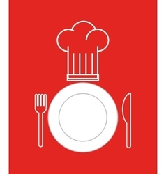 dish and cutlery restaurant menu vector image